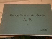 Grande fabrique de meubles A Pellizzari Paris 1926