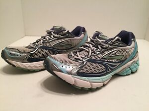 d7b8f7675a2 Brooks Ghost 4 Evolution Womens Blue Gray Silver Running Shoes Size ...