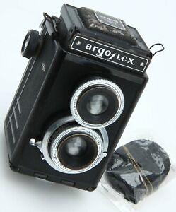 Argus Argoflex EM TLR Film Camera Varex 75mm F4.5 Vintage 1948 390602