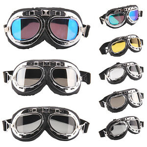 Motocicleta-Moto-Bici-Scooter-Motocross-Goggles-Gafas-Anti-UV-Proteccion-Viento