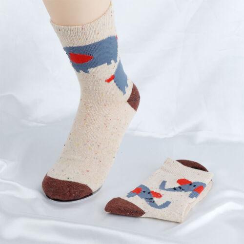 Warm Sock Elephant Animal Lovely Autumn Winter Thick Women Wool Socks Cartoon