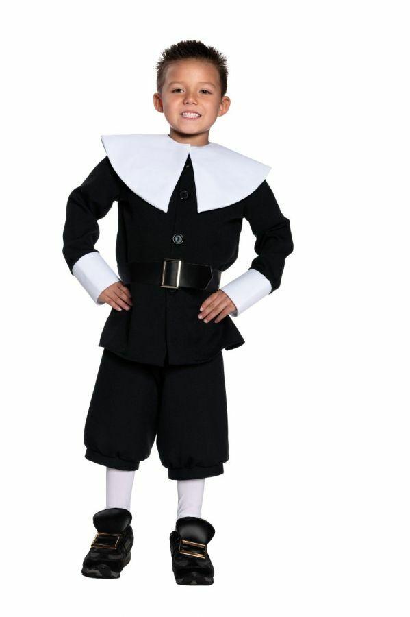Pilgrim Boy Thanksgiving Child Costume Kids Cute Theme Party Religious Halloween