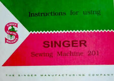 Rare Large Deluxe-Edition Instructions Manual for Singer 201 Sewing Machine