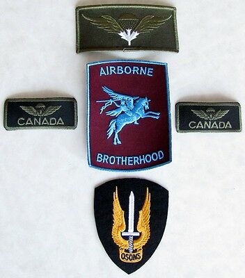 Canada Army Canadian Airborne Regiment Para Paratrooper Lot 5 Set Wings Badges
