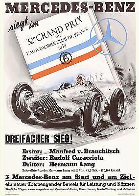 Vintage Mercedes-Benz Automotive print poster, large 4 sizes available