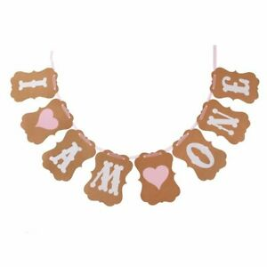 GIRL-I-AM-ONE-HEART-BUNTING-BIRTHDAY-PARTY-BANNER-PARTY-DECORATION-GARLAND-UK