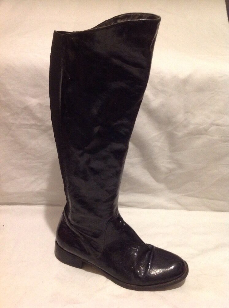 Episode Black Knee High Leather Boots Size 39