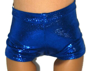 SHINY BLUE BOY SHORTS - Dance/Cheer - Doll Clothes Fits 18&#034 ...
