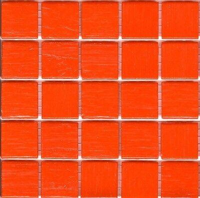 25pcs VTC99 Orange Bisazza Vetricolor Glass Mosaic Tiles 2cm x 2cm