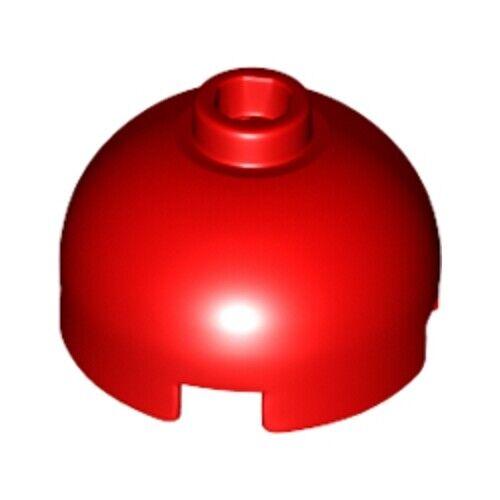 4216657 30367-Neuf LEGO 20x rouge vif 1x2x2 ronde bombée brique avec Goujon Partie