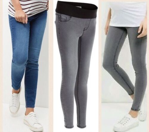 Grey or Blue New Look Maternity Under bump Jeggings Skinny jeans 10-18 BNWT