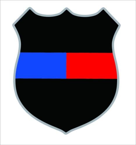 Police Officer Fireman Badge Blue Red Line Lives Matter Sticker  3M Graphic Car