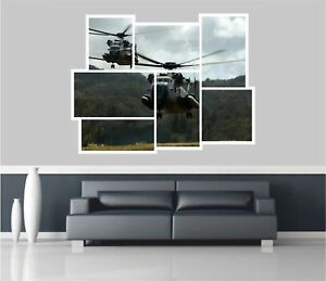 Huge-Collage-View-Sea-Stallion-Helicopters-Wall-Stickers-Decal-Mural-877
