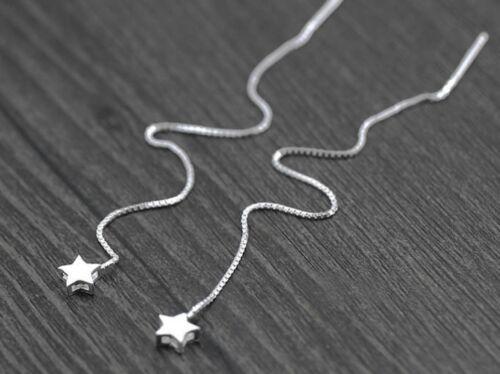 925 Sterling Silver Earrings Ear Threads Star