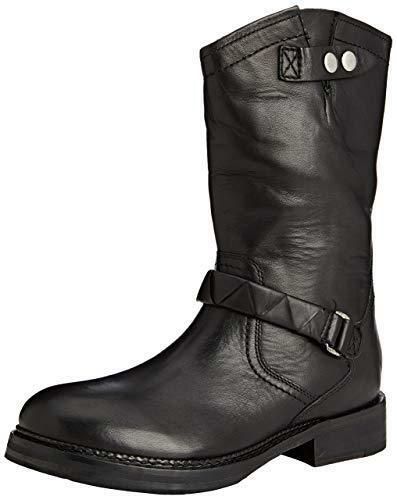 H By Hudson black pelle Biker Zip shoes da Trekking 8 41