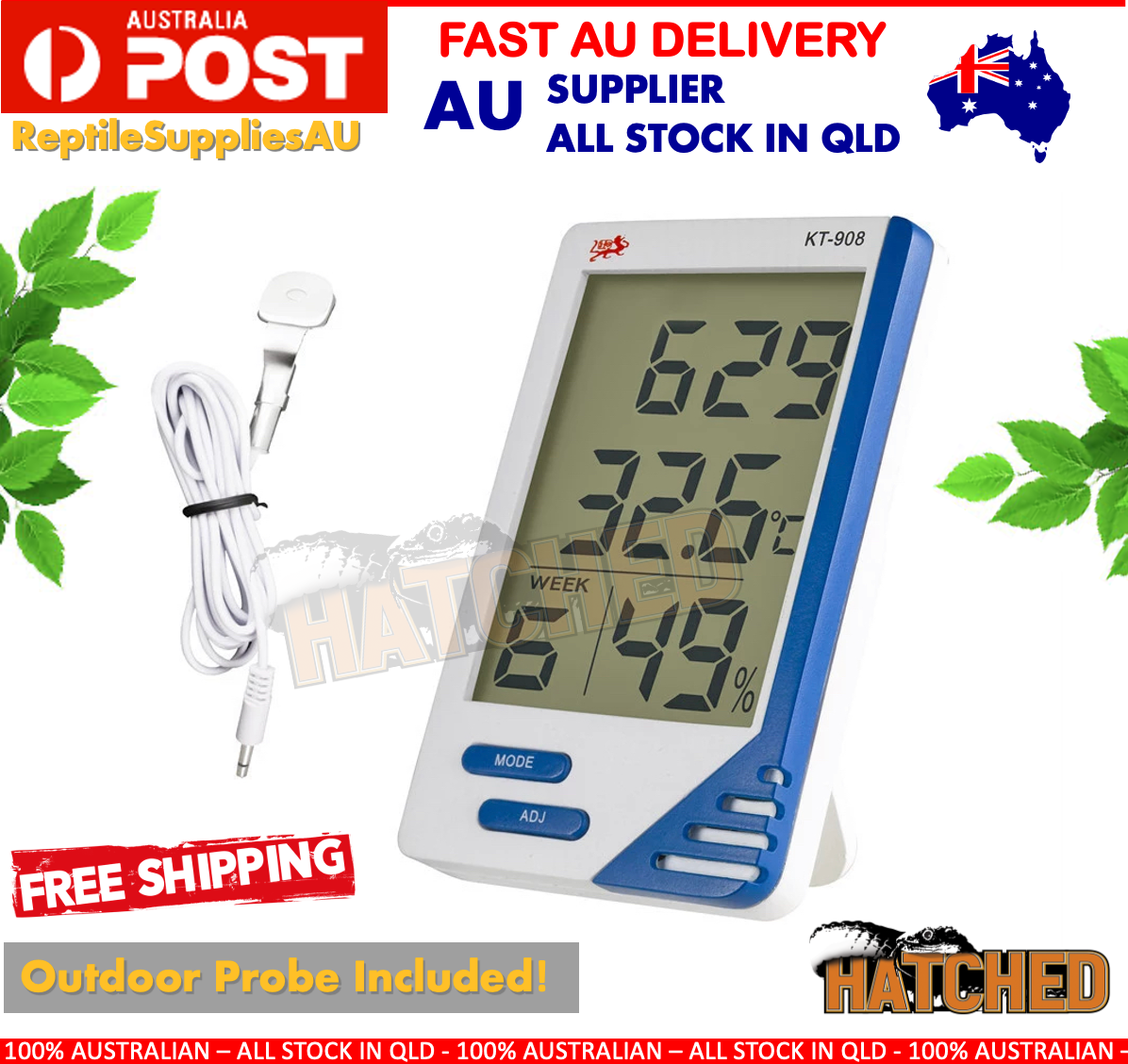 Digital Thermometer Hygrometer LCD Temperature Indoor Outdoor LCD Humidity Meter