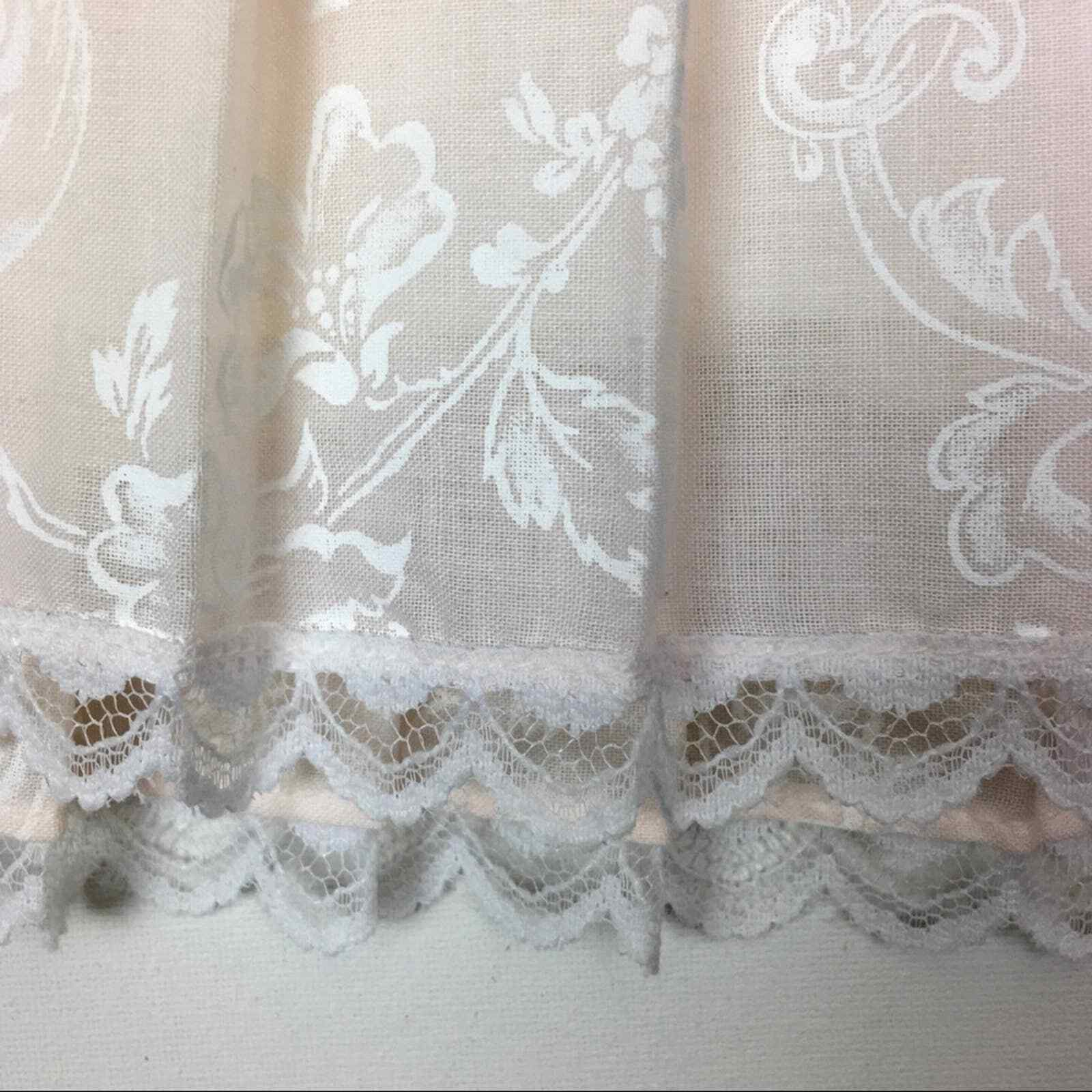 Vintage Gunne Sax lace and floral pleated skirt g… - image 5