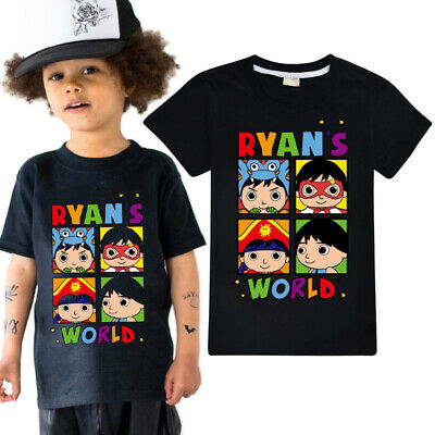 New Boys Girls Ryan/'s World T-shirt Cotton Ryan Toys Review Summer T Shirt Tops