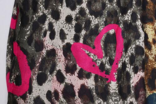 SPLENDIDA stampa leopardo delle donne cuore Sciarpa Scialle Vestito Da Spiaggia Sarong Accessorio