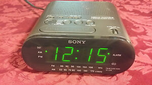 sony icf c218 alarm clock radio dream machine super 27242704602 ebay. Black Bedroom Furniture Sets. Home Design Ideas