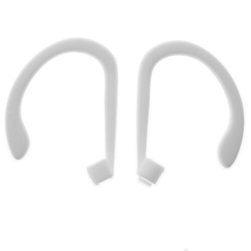 Deportes de silicona anti pérdida de Oreja Anillo Gancho Titular Correa Para Apple AirPods Blanco