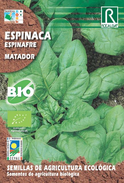 Semillas ECOLOGICAS Espinaca Matador, Sobre 3 gr.