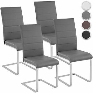 Image Is Loading Set Of 4 Modern Cantilever Dining Chairs Room