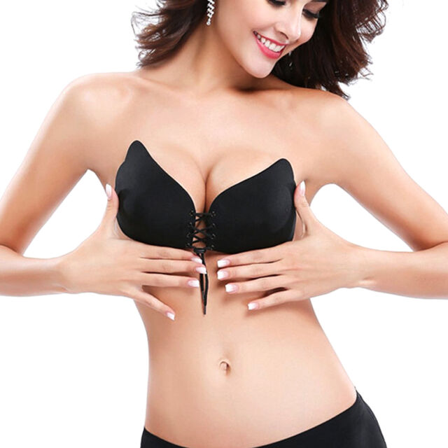 2e439582daa9a Strapless Pushup Bra for Women Silicone Backless Bras Self Adhesive ...