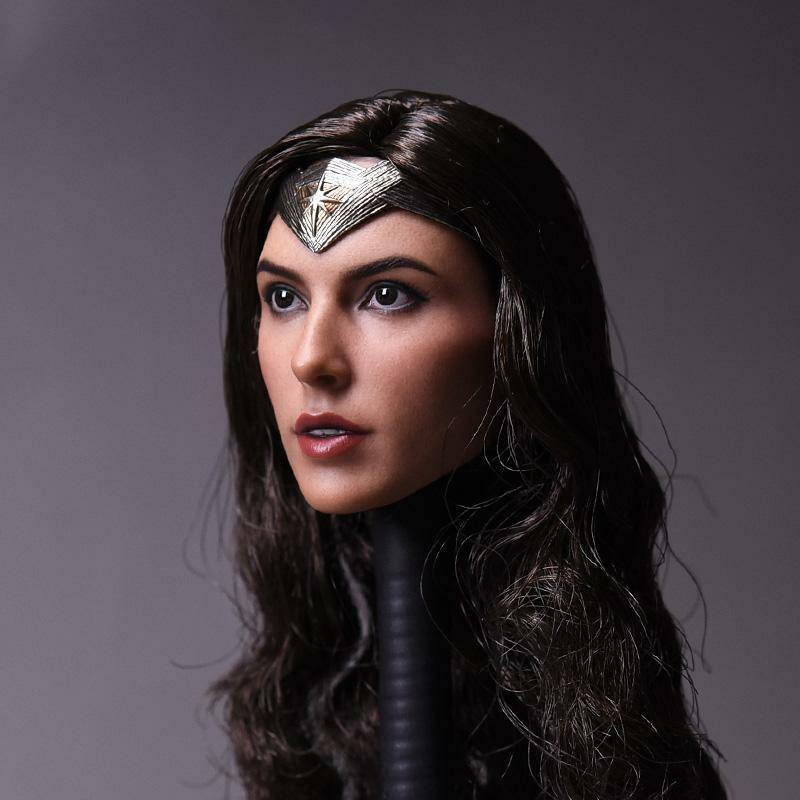 1 6 GalGadot Head Sculpt  Wonder Women Head Carving Model F 12  Action Figure