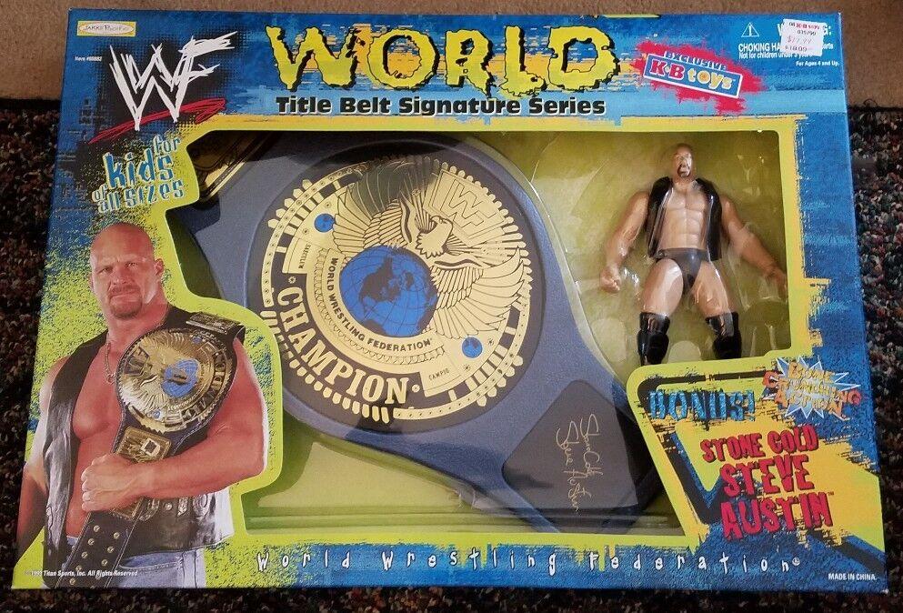 WWF Stone Cold Steve Austin KB giocattoli Exclusive Title Belt Signature Series