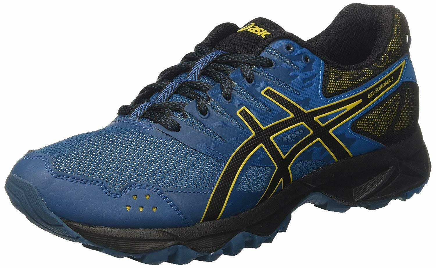 ASICS Gel-Sonoma 3 Mens Running Trainers T724N Ink bluee 10.5 D US - NEW