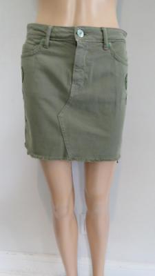Gold mini skirts size 25 Sandrine Rose Olive Green Denim Embroidered Mini Skirt Size 25 Ebay