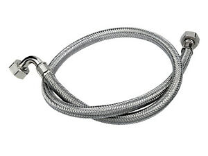 stainless steel braided washing machine inlet fill hose heavy duty ebay. Black Bedroom Furniture Sets. Home Design Ideas