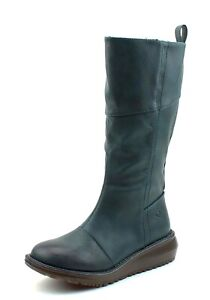 Details zu Heavenly Feet NEW Robyn ocean teal green VEGAN tall wedge heel comfort boots 3 8