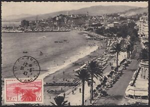 Efficace 1947 France Carte Maximum N°777 Cp Cannes La Croisette Et Le Suquet Maxi Card