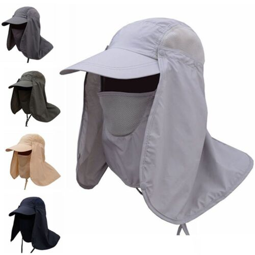 Fishing Hiking Hat Outdoor Sports UV Sun Protection Neck Face Flap Cap Wide Brim