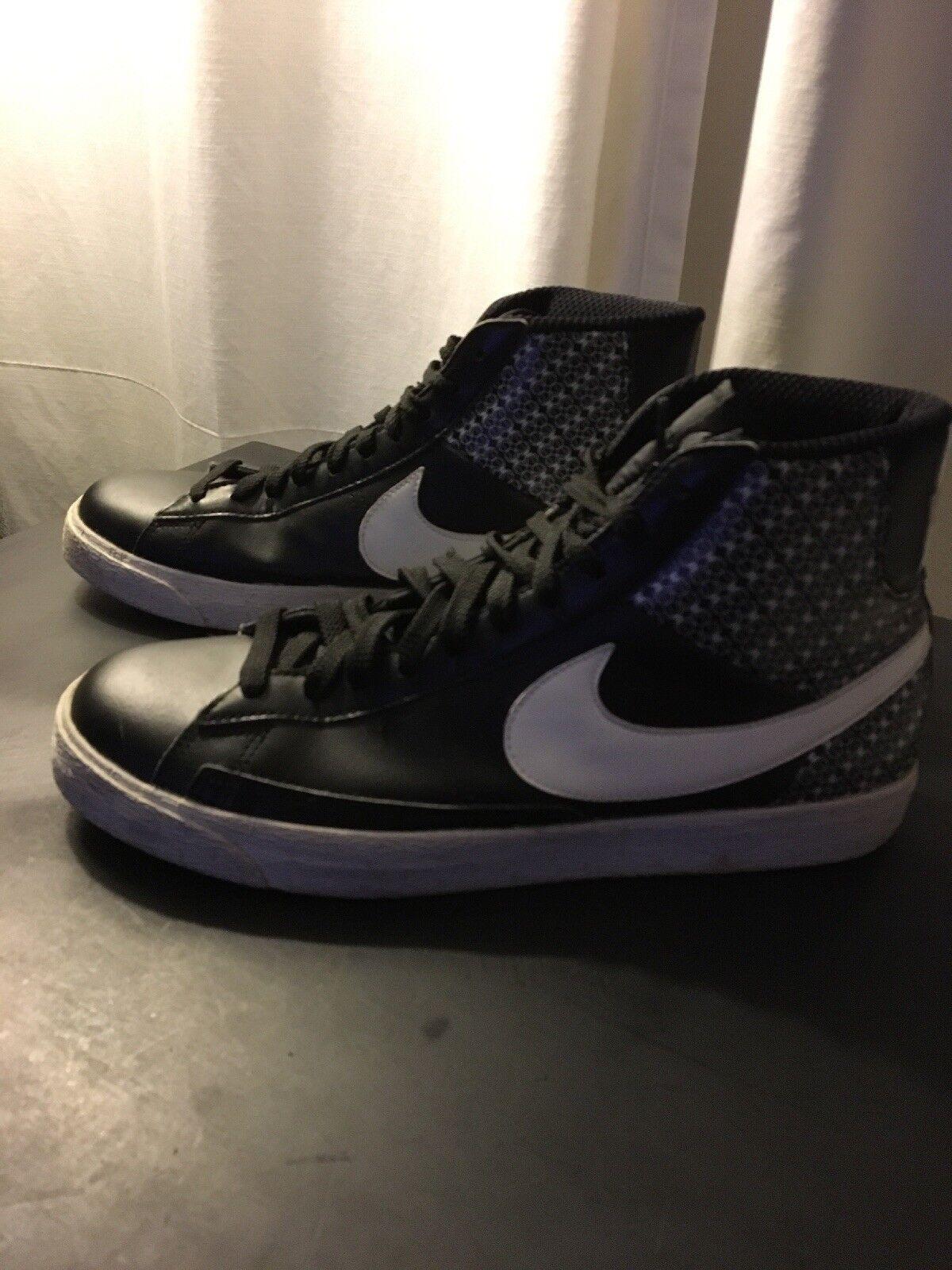 Nike Nike Nike Blazer Hi-Top Black/White Size 11 379416-011 f17c18