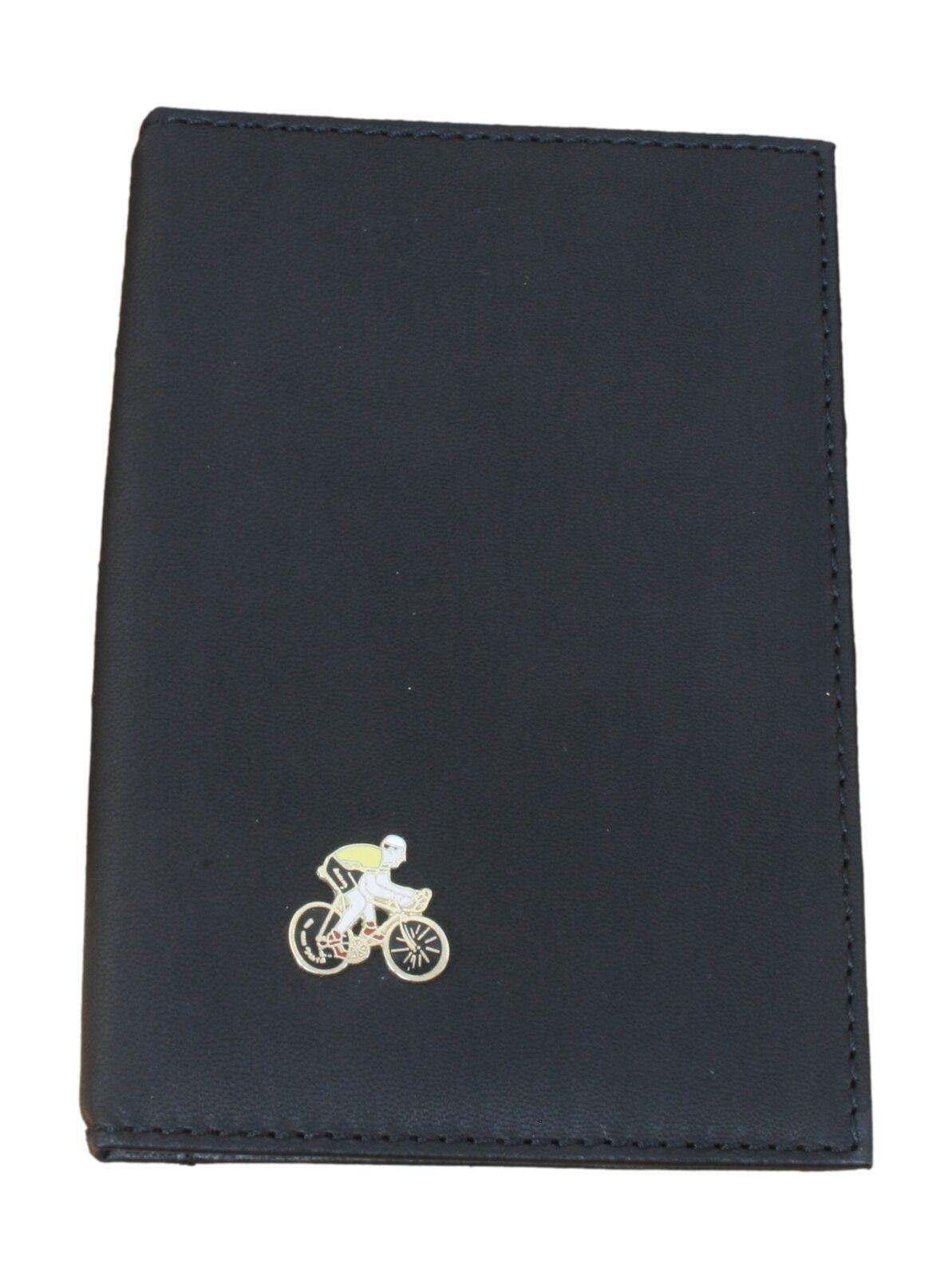 Cyclist Enamel Black Leather Shotgun/Firearms Certificate Holder 96