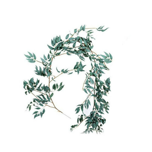 Artifical Willows Leaves Garland Backdrop Walls Silks Wedding Party Decor 1.65M