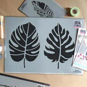 Pochoir de Peinture Murale Motif Feuille Fleur Maison Art D/écoration
