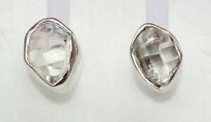 Sehr-seltener-Herkimer-Diamant-Ohrstecker-925-Silber-Ohrring-Ohrschmuck-selten