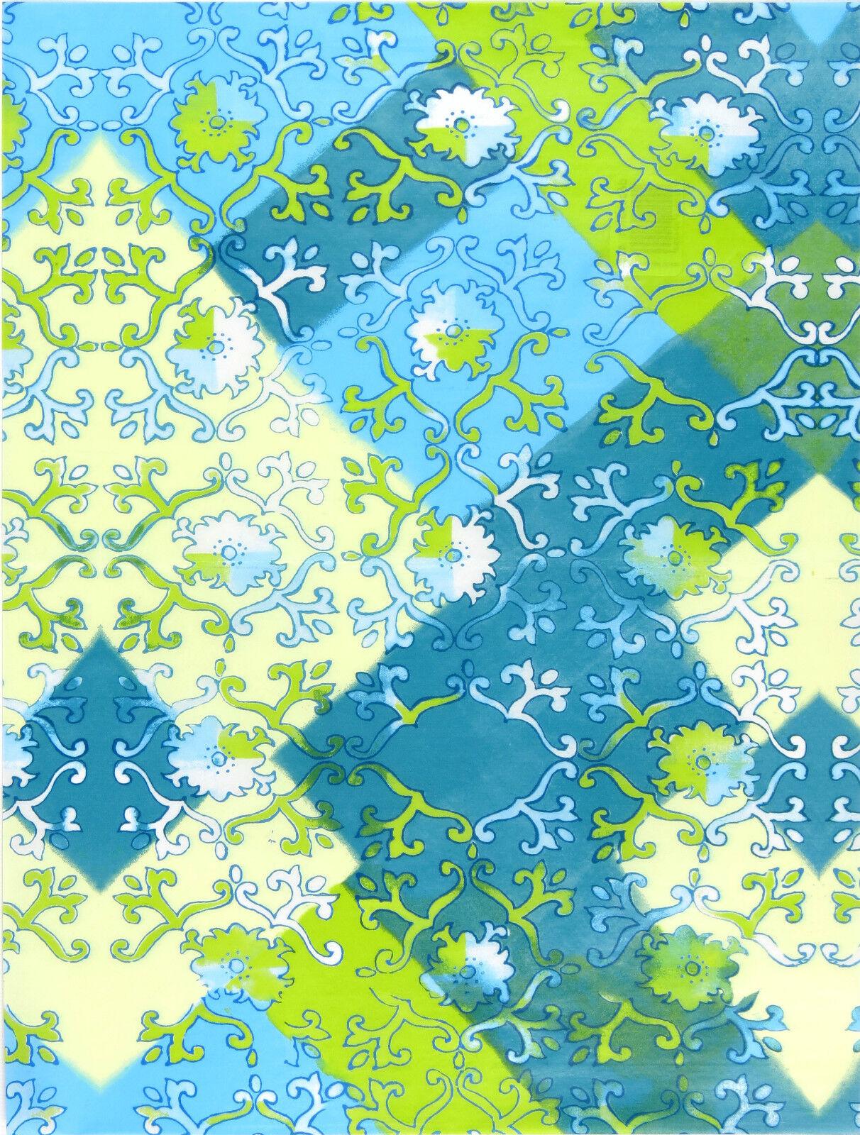 patterned paper Decopatch paper scrapbook paper green paper craft paper decoupage paper Decopatch Paper 643