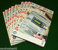 Lot of 8 SOUND on SOUND Magazine s: 1998 Tori Amos, Clavia Nord, Roland VS1680