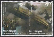 WWI 1915 Zeppelin Airship Bombing Air Raid / London Bridge / River Thames Stamps