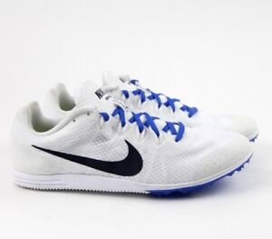 the best attitude 44f7b 0f64e Image is loading Nike-Zoom-Rival-D-9-Track-Shoes-White-