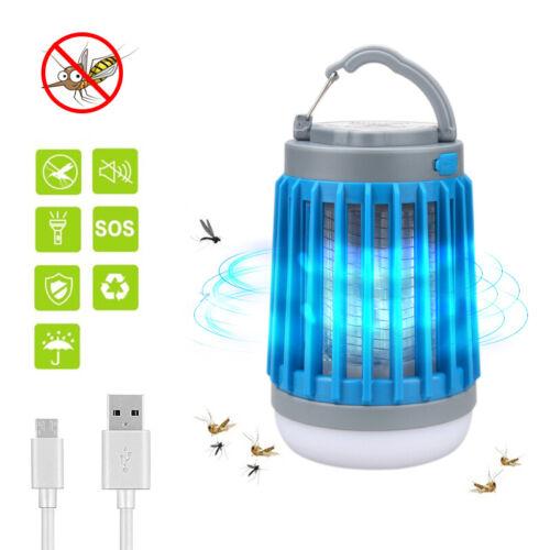 3in1 Solar Portable Bug Zapper LED Camping Lantern Flashlight Mosquito Killer