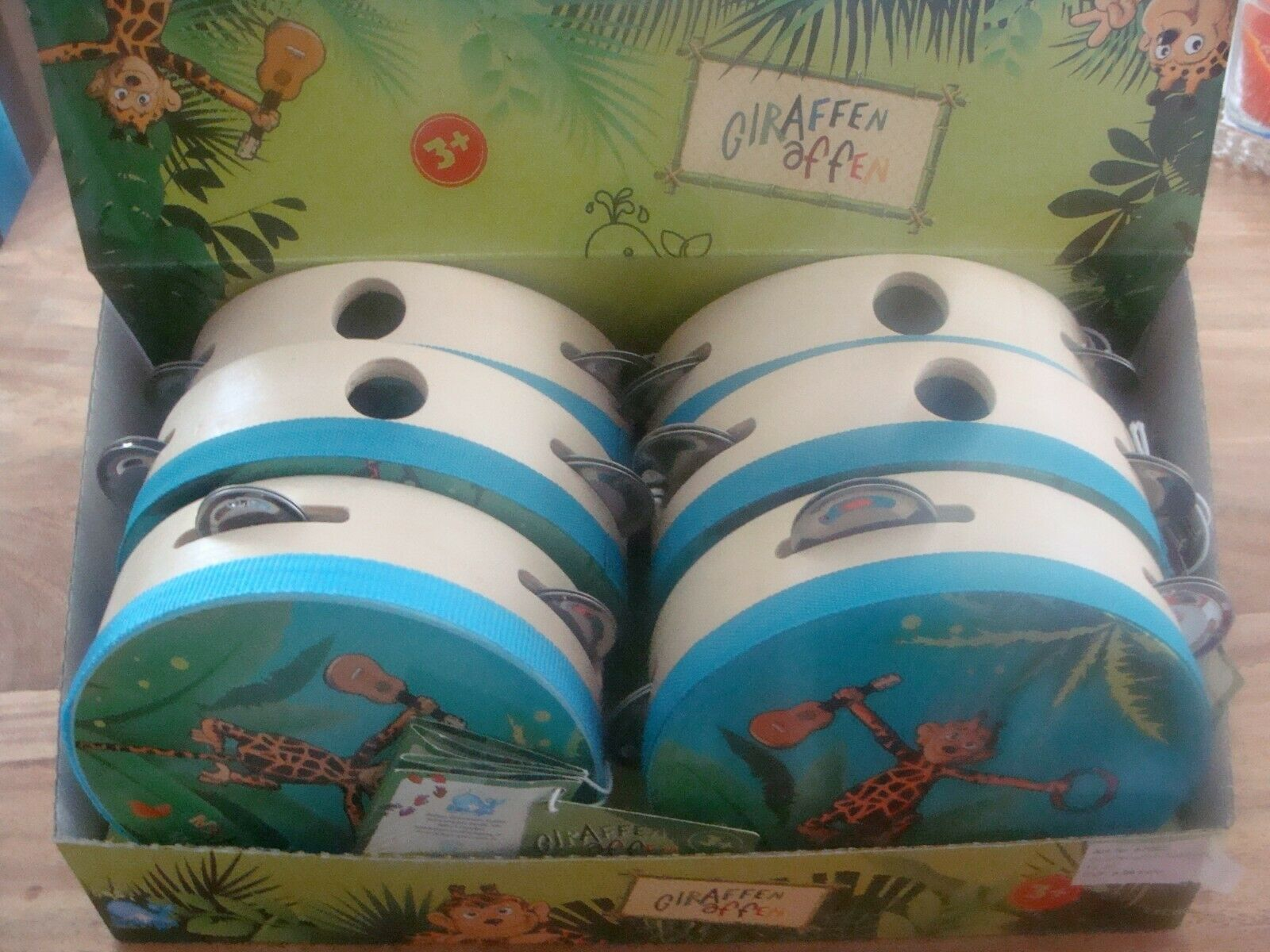 Beluga Spielwaren 67002 Giraffenaffen Tamburin