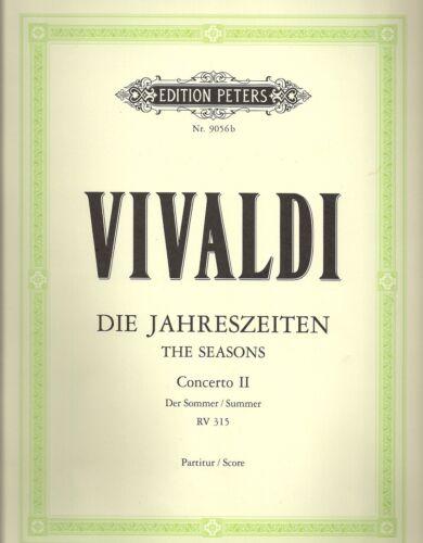 """Vivaldi Die Jahreszeiten für Violine und Streichorchester /""""Der Sommer/"""""""