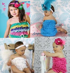ee37d2fa0469 Image is loading Baby-Ruffle-Lace-Petti-Rompers-Newborn-Infant-Toddler-