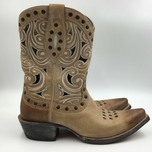 Ariat Women's Paloma Oak Barrel Tan Western Boots